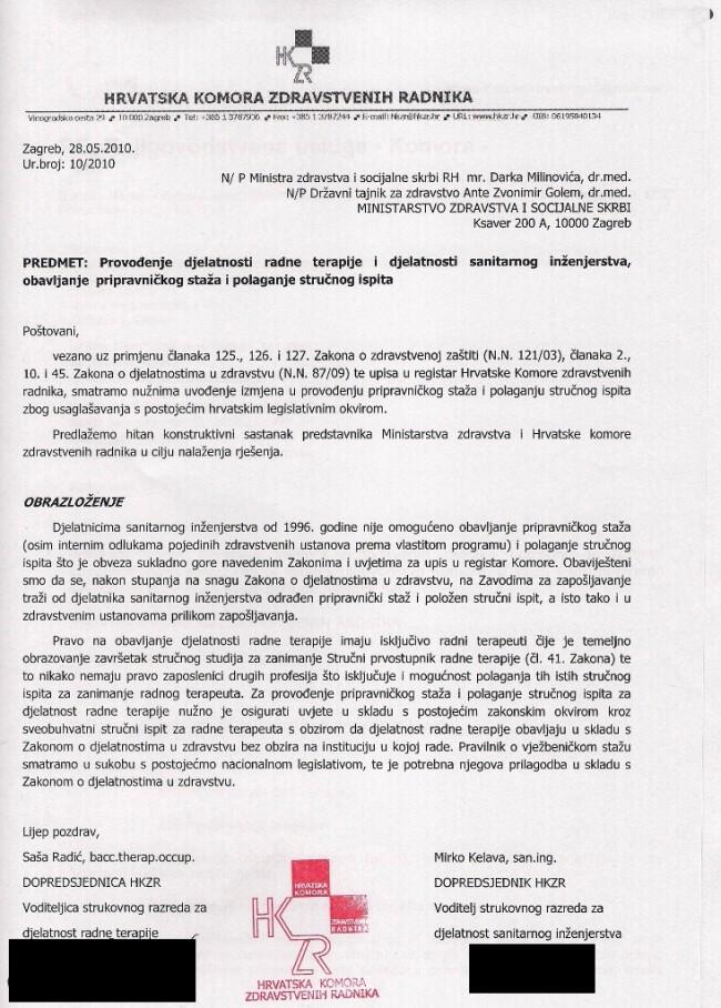 Pripravnički staž i stručni ispit-zamolba za prijem u MZSS