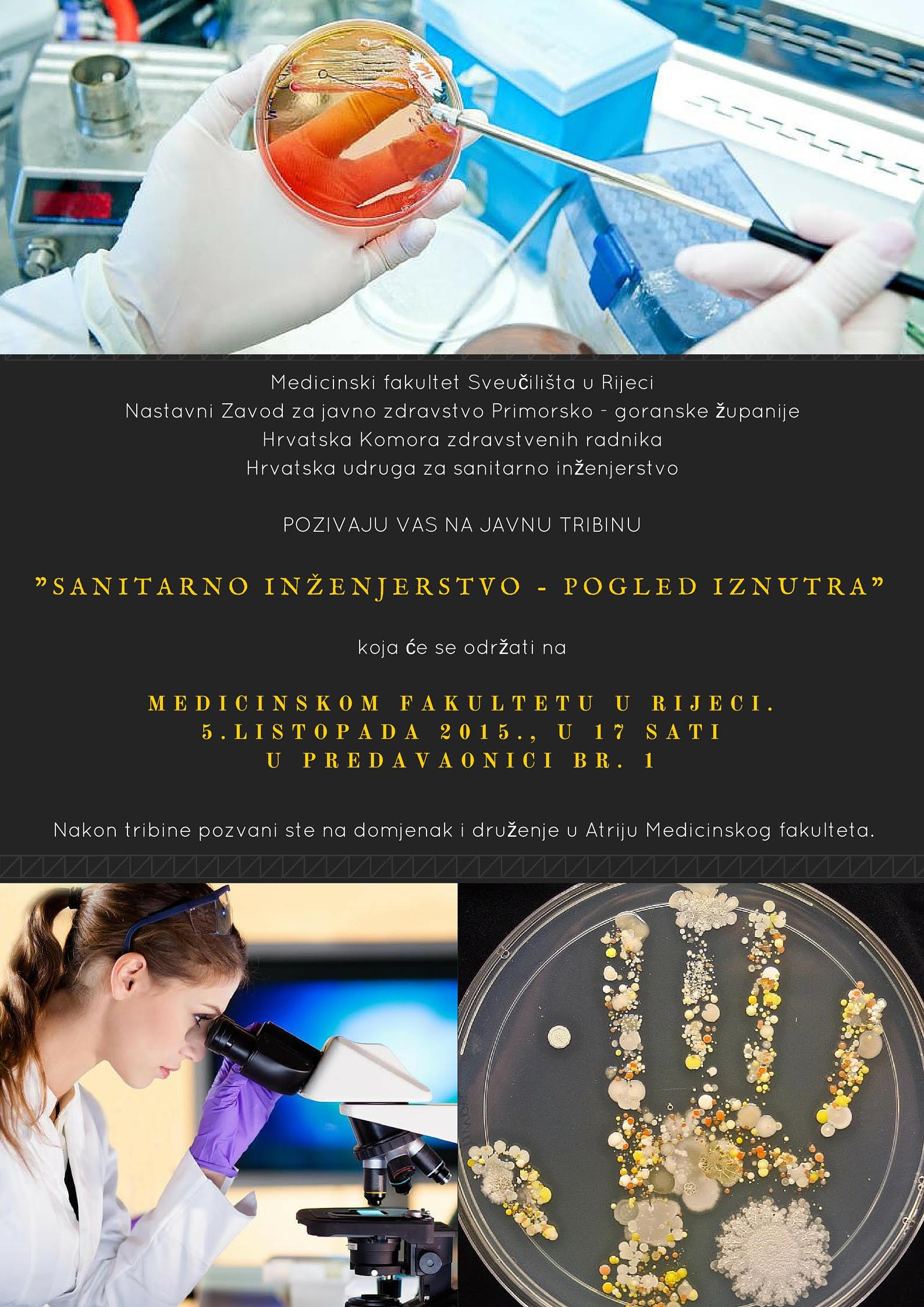 """Javna Tribina """"Sanitarno Inženjerstvo – Pogled Iznutra"""" Medicinski Fakultet Sveučilišta u Rijeci"""